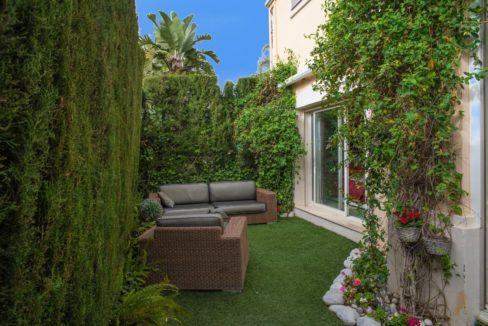 Jardín privado vivienda en Milla de Oro, Marbella